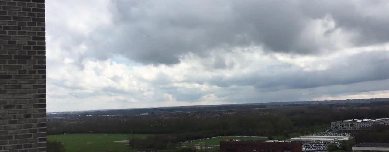 Udsigt fra toppen af Campus Kollegiet i Odense