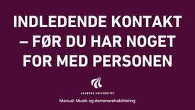 Manual sang og musik: indledendekontakt Video 2