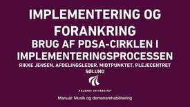 Manual sang og musik: Implementering og forankring video 5