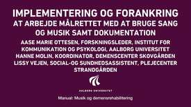 Manual sang og musik: Implementering og forankring video 4